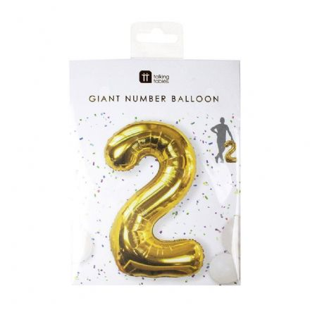 Giant Gold Foil Number Balloon - 2